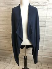 Torrid Navy Open Front Cardigan Womens Plus Size 1 Waterfall Ribbed Oversize I1