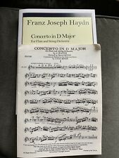 Franz Joseph Haydn Concerto in D Major for Flute and Piano