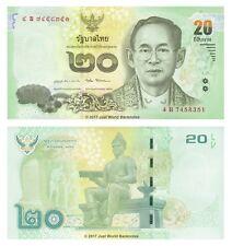 Thailand 20 Baht 2016 King Rama P-New Banknotes UNC