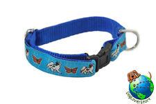 "Papillon Adjustable Collar Small 7-11"" Blue"