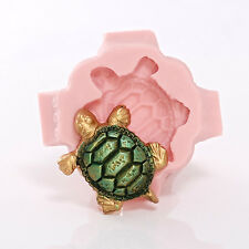 Sea Turtle Silicone Mold - Jewelry Resin Clay Mold - Food Safe Fondant (892)