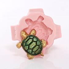 Sea Turtle Silicone Mold - Jewelry Resin Clay Mold - Food Safe Fondant (892)