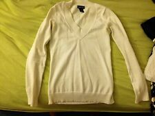 XS Wet Seal White V-Neck Sweater - very cute!!