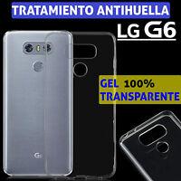 FUNDA TPU DE GEL SILICONA 100% TRANSPARENTE PARA LG G6 CARCASA PLASTICO