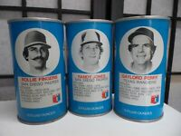 1977 RC Cola Cans  All Star Pitchers  Gaylord Perry, Rollie Fingers, Randy Jones