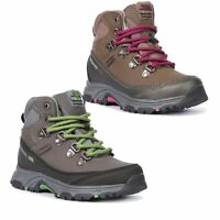 Trespass  Glebe II Boys Girls Leather Walking Boots Mid Cut Hiking in Brown & Gr