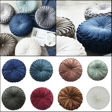 35cm Round Velvet Pumpkin Pillow Solid Color Sofa Couch Floor Cushion Home Decor