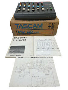 Tascam System 20 MM-20 Modular Mixer a TEAC Production Products Vintage