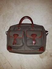 POLO RALPH LAUREN MEN'S OLIVE BROWN LEATHER MESSENGER BAG HOLDS LAPTOP $350 NWT