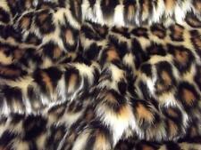 Animal Fun Faux Fur Fabric Material - LEOPARD