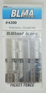 BLMA  HO scale - Picket Fence - etched metal - 70 Linear Feet  -  4200