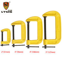 """LTMS FINE THREAD G CLAMP HEAVY DUTY C CLAMPS  2"""" 51mm 3"""" 76mm 4"""" 100mm 5"""" 127mm"""
