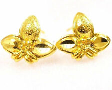 Butterfly Yellow Gold Plated Stud No Stone Costume Earrings