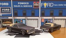 Papercraft EZU-build 1976 Ford Granada Ghia Coupe Paper Model Toy Car U make it!