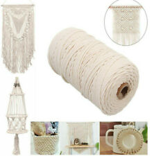 2/3/4/5mm Cotton Twisted Macrame String Craft Artisan Tapestry Rope Wrapped Hot