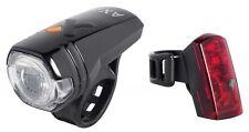 AXA Beleuchtungsset Set Green Line 30 Akku USB-Ladekabel 30 Lux Fahrrad Licht