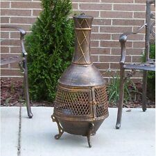 Outdoor Patio Fireplace Backyard Fire Pit Chiminea Wood Burning Heater Firepit