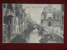 """VENEZIA  Rio San Giovanni e Paolo,no viaggiata,""""900 #10000"""