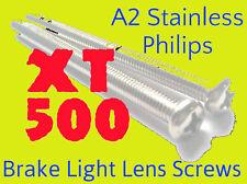 Yamaha XT500 - Brake Light Lense Philips Screws - A2 Stainless