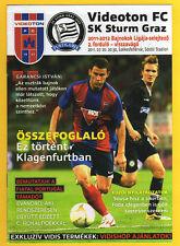 ORIG. PRG Champions League 11/12 Videoton FC-SK Sturm Graz!!! RARO