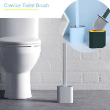 Silicone Toilet Brush With Toilet Brush Holder Creative Cleaning Brush Set Q