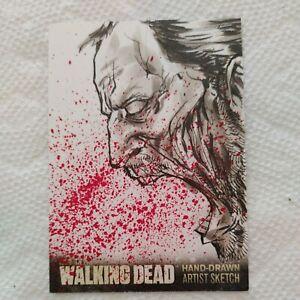 THE WALKING DEAD SEASON 3 ORIGINAL HAND DRAWN ARTIST VS. SKETCH TRADING CARD 1/1
