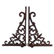 2 Vines Fleur De Lis Shelf Brackets Cast Iron Braces Antique Style Rustic Finish