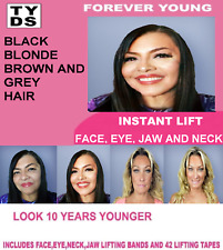 FOREVER YOUNG INSTANT FACE LIFT 5 ELASTIC BANDS AND 42 TAPES BLACK HAIR
