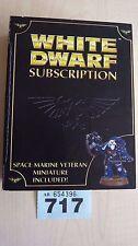 WH40K LIMITED EDITION WHITE DWARF SUBSCRIPTION 2008 SPACE MARINE VET NIB #717