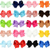 4.3'' Baby Girls Toddler Kids Hair Bow Hair Band Headband Grosgrain Ribbon Gift