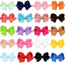 4.3'' Baby Girls Toddler Kids Hair Bow Hair Band Headband Grosgrain Ribbon Gift