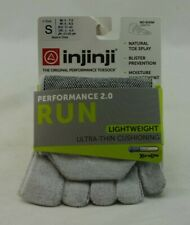 Injinji Performance Toesock 2.0 Run Lightweight Gray Coolmax Small