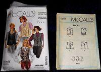 NEW McCalls Pattern 0021 Misses Vests Sizes 8 10 12 14 16 18 UNCUT Vintage 1989