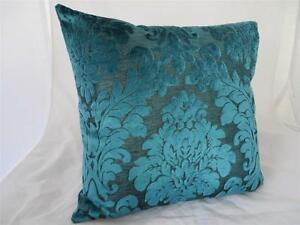 Turquoise Acanthus Velvet Home Decor Pillow Case Lounge Bed Cushion Cover 45cm