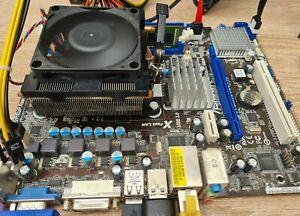 ASRock 960GM/U3S3 FX AM3+ Motherboard Bundle, AMD 4230 CPU, Cooler. Tested OK.