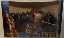 """Lord Of The Rings LOTR """"Return of the King"""" Movie - King Aragorn With Brego MISB"""