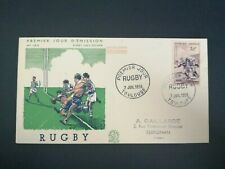 FRANCE PREMIER JOUR FDC YVERT 1074 RUGBY 50F TOULOUSE 1956