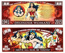 WONDER WOMAN BILLET MILLION DOLLAR US! Collection Super Heros serie Comics bd dc