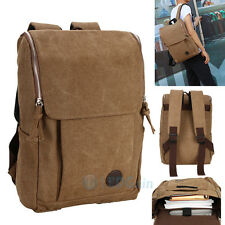 Men Women Vintage Canvas backpack Rucksack Shoulder travel Camping Bag Satchel