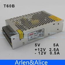 60W Triple output 5V 12V -12V Switching power supply smps AC to DC