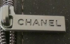 CHANEL embossed watch storage/travel black faux suede box. Cushioned inside.
