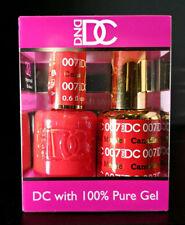 DND DC Soak Off Gel Polish Canadian Maple 007 LED/UV 6oz 18ml Gel Duo Set NEW