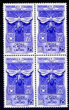 ITALIA 1953 - ORDINI AL MERITO  QUARTINA NUOVA **