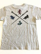 Vans New Harry Potter Crest Kids Short Sleeve T-Shirt Boy's Youth 5/M Gray