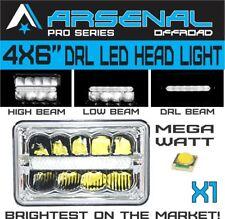 4x6 inch Pro Kenworth Peterbilt LED Rectangular DRL Sealed Beam Headlight 1pcs