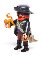 Playmobil Figure Mystery Series 10 Pirate Captain w/ Hat Sword Monkey 6840 NEW