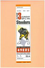 San Francisco 49ers @ Pittsburgh Steelers 1993 ticket Dana Stubblefield 1st GAME