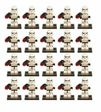 Lot of 20 Star Wars Mini figures First Order Stormtrooper Army Fits with Lego