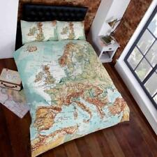Photographic European Countries World Map King Size Duvet / Quilt Cover Bed Set