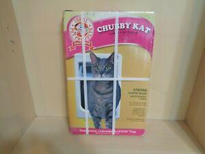 "Ideal Pet Products Chubby Kat Large Cat Door White Flap Size 71/2"" x 10 1/2"" NIB"